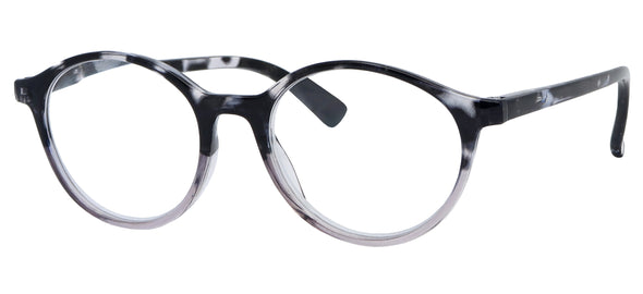 ST1504R -  Wholesale Unisex Basic Oval Style Reading Glasses in Grey Tortoise
