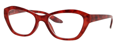 ST1512R - Wholesale Women's Marble Pattern Eye Reading Glasses in Red