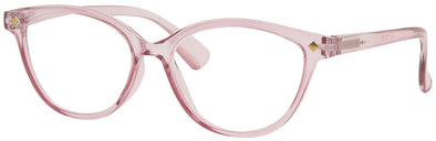 ST1514R - Wholesale Women's Crystal Cat Eye Reading Glasses in Pink