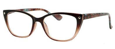 ST1517R -  Wholesale Women's Glittered Temple Reading Glasses