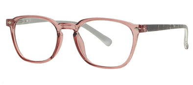 ST1524R - Wholesale Women's Translucent Frame with Marbled Temples Reading Glasses