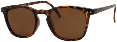 ST1641PL - Wholesale Round Style Polarized Sunglasses with Spring Hinged Temples in Tortoise