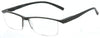 ST1903R -  Wholesale One Piece Design Half Rim Unisex Reading Glasses in Black