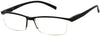 ST1903R -  Wholesale One Piece Design Half Rim Unisex Reading Glasses in Grey