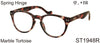 ST1948R - Keyhole Style Marble Framed Unisex Reading Glasses