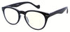 ST1948R - Wholesale Keyhole Style Marble Framed Unisex Reading Glasses in Black