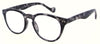 ST1948R - Wholesale Keyhole Style Marble Framed Unisex Reading Glasses in Grey Tortoise