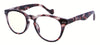 ST1948R - Wholesale Keyhole Style Marble Framed Unisex Reading Glasses in Purple Tortoise