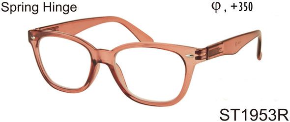 ST1953R - Wholesale Square Shaped Unisex Reading Glasses in Orange