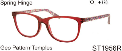 ST1956R - Women's Geo Grid Pattern Reading Glasses