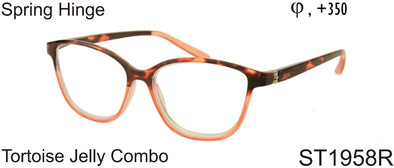 ST1958R - Two Tone Cat Eye Reading Glasses