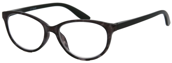 ST1964R - Wholesale Women's Marble Two Tone Cat Eye Reading Glasses in Black
