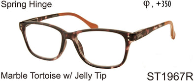 ST1967R - Tortoise Square Reading Glasses