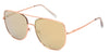 ST3137FSM - Wholesale Navigator Style Flat Lens Sunglasses in Rose Gold