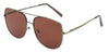 ST3137FSM - Wholesale Navigator Style Flat Lens Sunglasses in Brushed Metal
