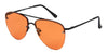 ST3138FCS - Wholesale Aviator Style Flat Lens Sunglasses in Black
