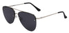 ST3138FCS - Wholesale Aviator Style Flat Lens Sunglasses in Silver