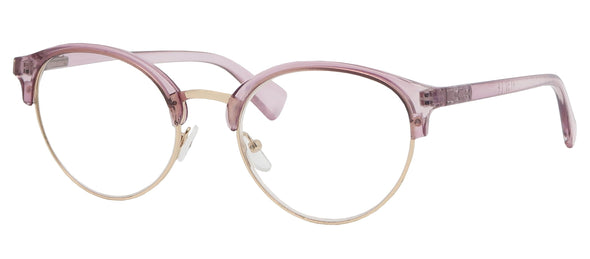 ST5915R - Wholesale Women's Translucent Browline Metal Reading Glasses in Purple