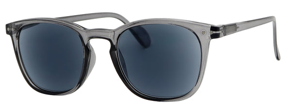 ST8131SR - Wholesale Unisex Keyhole Style Reading Sunglasses in Grey