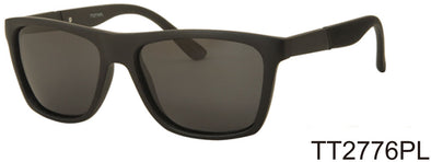 TT2776PL - Wholesale Men's Square Polarized Sunglasses in Black