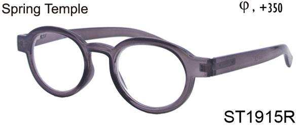 ST1915R - Wholesale Unisex Oval Style Reading Glasses in Grey