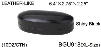 BGU918 - Wholesale Leather Like Black Clam Case for Sunglasses