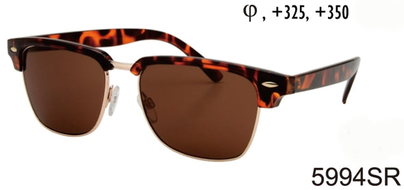 5994SR - Wholesale Club Style Reading Sunglasses in Tortoise
