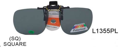 L1355PL - Wholesale Clip On Square Sunglasses -Polarized