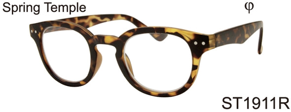 ST1911R - Wholesale Unisex Key Hole Style Reading Glasses in Tortoise
