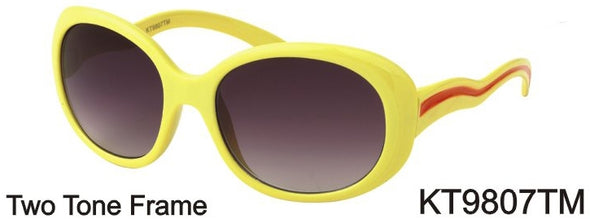 KT9807TM - Wholesale Kids Oval Two Tone Sunglasses