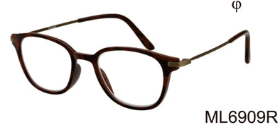ML6909R - Wholesale Unisex Fashion Reading Glasses in Black