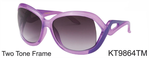 KT9864TM - Wholesale Kid's Fashion Sunglasses for Girls in Purple