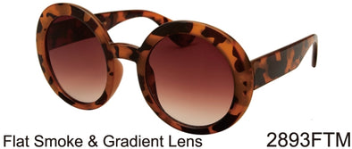 2893FTM - Wholesale Round Sunglasses in Tortoise