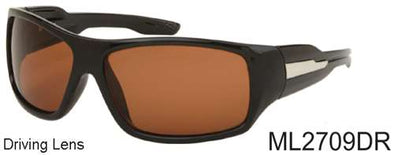 ML2709DR - Wholesale Sports Wrap Driving Sunglasses in Black