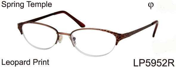 LP5952R - Wholesale Women's Cat Eye Style Leopard Print Reading Glasses in Tortoise