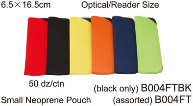 B004FTBK - Wholesale Neoprene Pouch for Small Eyeglasses in Black