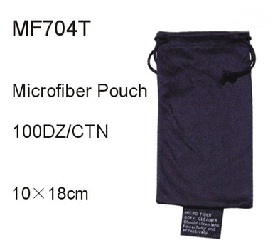 MF704T - Wholesale Black Microfiber Carrying Pouch for Eyewear Storage & Cleaning