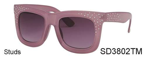 SD3802TM - Wholesale Fashion sunglasses with Studs in Jelly Pink