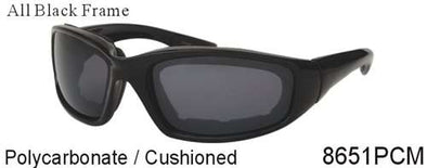 8651PCM - Wholesale Cushioned Sunglasses with Smoke Lens