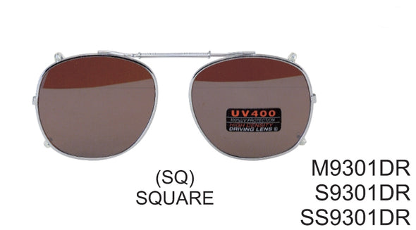 S9301DR - Wholesale Spring Clip on/Driving Sunglasses