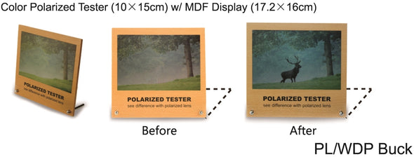 PL/WDP Buck - Wholesale Polarized Tester Picture of Buck in the Forest
