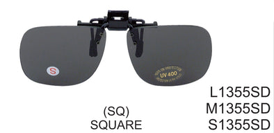 S1355SD -  Wholesale large clip on Sunglasses