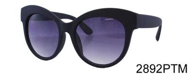 2892PTM - Wholesale Fashion Cat Eye Sunglasses in Black