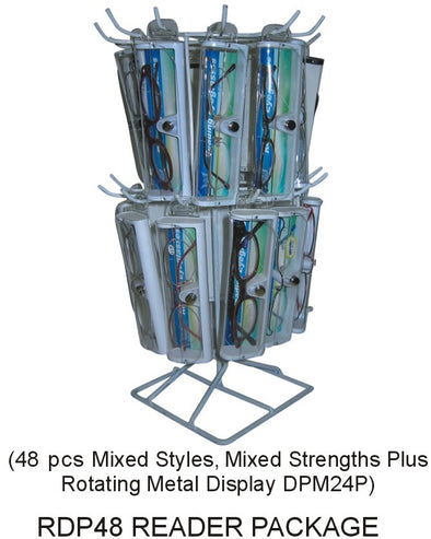 RDP48 - Wholesale Mixed Reading Glasses Package with Rotating Display