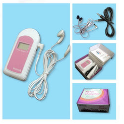 LCD Display Baby Heartbeat monitor+Tones Fetal Doppler Monitor
