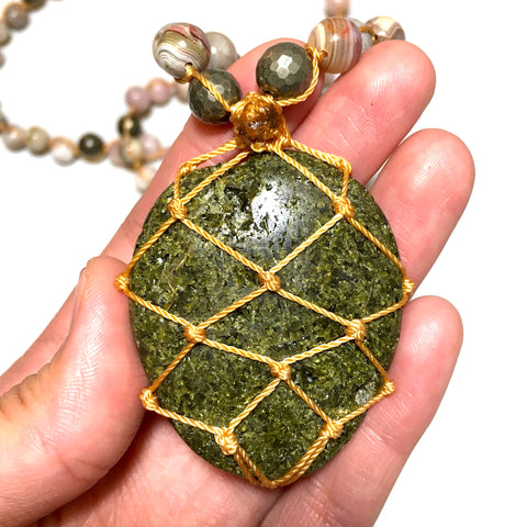 Epidote Mala Necklace