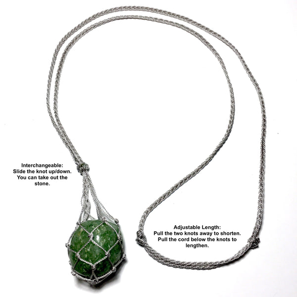 green aventurine crystal holder necklace