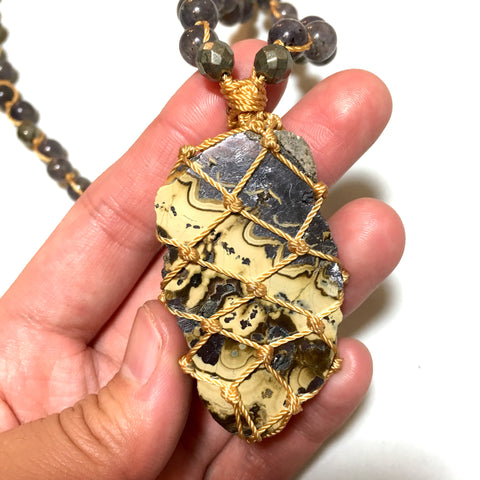 sphalerite stone necklace