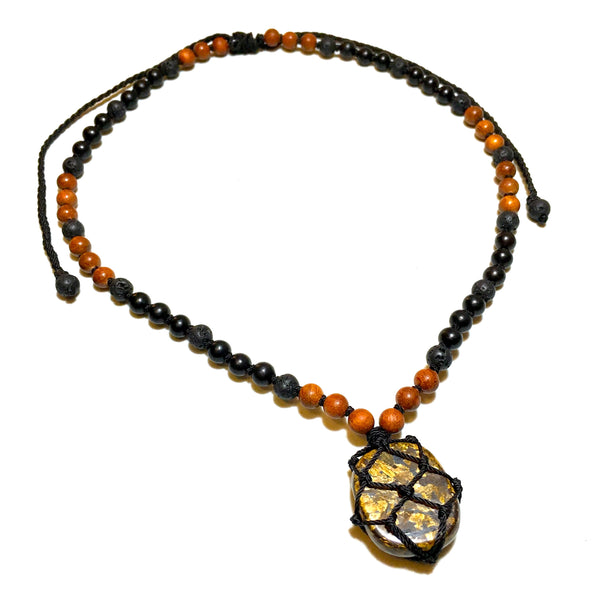 Bronzite Beaded Necklace (Short)