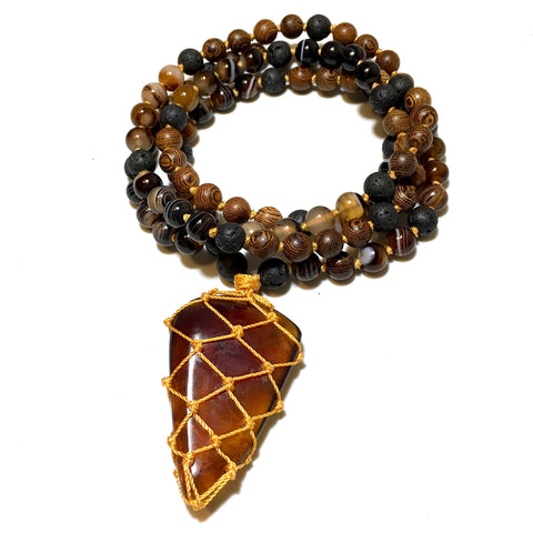 Amber Mala Necklace